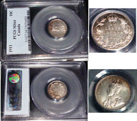 CANADA 1911 10 CENTS  PCGS 64