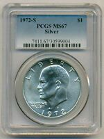 1972 S EISENHOWER SILVER DOLLAR MINT STATE 67 PCGS