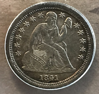 1841 O 10C SEATED LIBERTY DIME ANACS AU50 NEW ORLEANS MINT