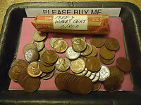 1955 D WHEAT CENT CIRCS ROLL         COMBINED SHIP AVAILABLE