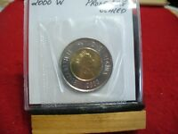 2000W  CANADA 2$ TWO  DOLLAR  COIN  TOONIE  SEE PHOTOS   00W  PROOF LIKE  SEALED