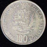 VENEZUELA 100 BOLIVARES 1998  GREAT DETAIL SIMON BOLIVAR LIBERATADOR COIN MONEY