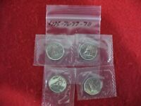 LOT OF 4  1975 76 77 1978   CANADA   DIME   10  CENT PIECE   SEALED  AUCTION