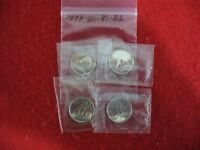 LOT OF 4  1979 80 81 1982   CANADA   DIME   10  CENT PIECE   SEALED  AUCTION