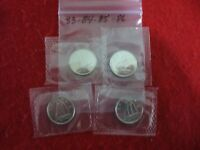LOT OF 4  1983 84 85 1986   CANADA   DIME   10  CENT PIECE   SEALED  AUCTION