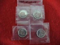 LOT OF 4  2009 11 12 2013   CANADA   DIME   10  CENT PIECE   SEALED  AUCTION
