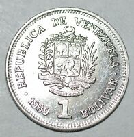 1989 UN BOLIVAR 1 COIN VENEZUELA WORLD UNCIRCULATED BOLIVAR CRISP BU A