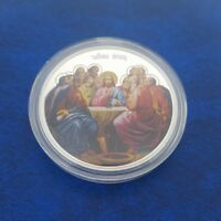 COMMEMORATIVE COIN COLLECTION LAST SUPPER JESUS CHRIST DINNER JUDAS CHRIST COINS
