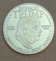 COMMEMORATIVE COIN COLLECTION TRUMP FORTY FFIFTH PRESIDENT UNITED STATES GOLDEN