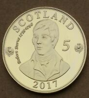 COMMEMORATIVE COIN COLLECTION SCOTLAND ROBERT BURNS GOLDEN ELDER MONEY ENGLAND