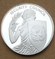 COMMEMORATIVE COIN COLLECTION UN SECURITY COUNCIL GODNESS TORCH MONEY LIBERTY