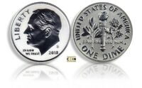 2018 S SILVER REVERSE PROOF ROOSEVELT DIME  ONLY 200K MINTED DIME ONLY