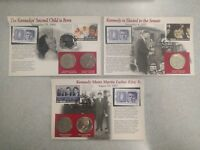 SET OF 5 KENNEDY HALVES POST MARKED POST CARDS UNCIRCULATED HALF COMMEMORATIVE