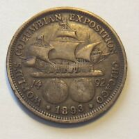 1893 COLUMBIA EXPO COMMEMORATIVE COIN   H671 SHIPS FREE