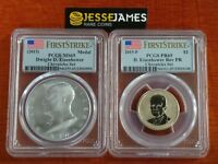 2015 P REVERSE PROOF EISENHOWER PCGS PR69 MINT STATE 69 SILVER MEDAL COIN CHRONICLES SET