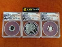 2015 P REVERSE PROOF SILVER MARCH OF DIMES ANACS PF70 / 70/ 70 FIRST STRIKE SET