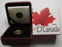 2013 PROOF $5 O CANADA 4 WOLF .9999 GOLD 1/10OZ FIVE DOLLARS