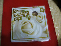 2016  CANADA  MARRIED IN COIN  SET   WITH   LIMITED   EDITION  LOONIE  MARRIAGE