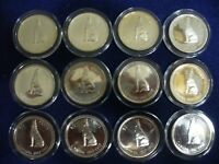 LOT OF 12 1967  CANADA  HALF  DOLLAR  SILVER  COINS  50  CENT  PIECE   WOLF