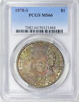 1878 S $1 MORGAN DOLLAR PCGS MS 66