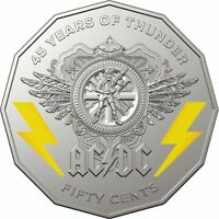 2018 50 CENTS AC/DC COIN   45 YEARS OF THUNDER