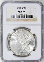 1882 S $1 MORGAN SILVER DOLLAR NGC MS 67 STAR
