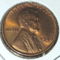LINCOLN WHEAT CENT UNC LOT 1948 PD AND 1949 PD  4 UNC COINS