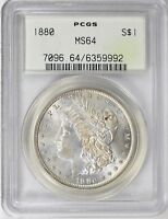 1880 P $1 MORGAN SILVER DOLLAR PCGS MS 64 OGH