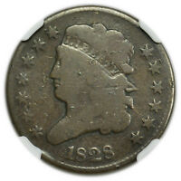 1828 CLASSIC HEAD HALF CENT, 13 STARS VARIETY, NGC G-6, EARLY COIN [3950.05]