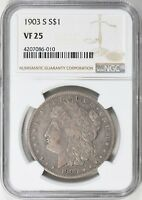 1903 S $1 MORGAN SILVER DOLLAR NGC VF 25