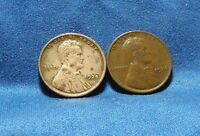 1925 AND 1926 LINCOLN CENTS - LOT OF 2 - FULL WHEAT LINES - SHIPS FREE