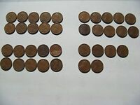 36 COINS OF 1916-1944 WHEAT PENNIES - 36 PENNY CENT  COINS  1013