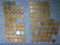 LINCOLN WHEAT CENTS: 1930-S - 1955-S , ALL S MINTS:  100 COINS:  CONDITION