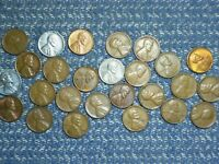 LINCOLN WHEAT CENTS: 1930'S, 1940'S AND 1950'S , ALL S MINTS:   CONDITION