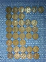 LINCOLN WHEAT CENTS: 1916-S  -  1919-S : ALL S MINTS:  CONDITION: 37 COINS