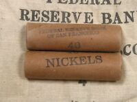 ONE   BUFFALO LIBERTY V NICKEL ROLL 40 COINS 1913 1938 PDS