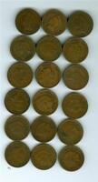 18 DIFFERENT DATE INDIAN HEAD PENNY LOT FROM 1888-1908 AVERAGE CIRCULATION