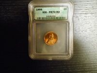 1956 PR70 RD LINCOLN CENT PROOF PENNY 1C - BY ICG HIGH PRICE GUIDE VALUE