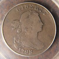 1798 DRAPED BUST LARGE CENT S 172 VF 20