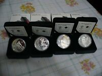 2010 VANCOUVER OLYMPICS  SILVER  CANADA  COINS   LOT OF 4   100$  FACE VALUE