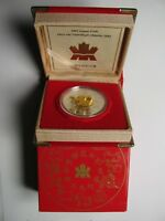 2002 PROOF $15 CHINESE CALENDAR 5 YEAR HORSE CANADA .925 SILVER W/ GOLD PLATE F
