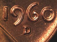 1960 D 1MM 059 WRPM 047 RPM 059 LINCOLN CENT REPUNCHED MINT MARK