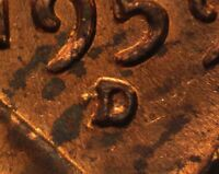1959 D 1MM 005 WRPM 002 RPM 005 LINCOLN CENT REPUNCHED MINT MARK