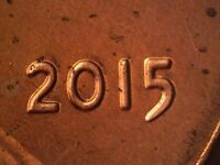2015 P  WDDO 008 LINCOLN CENT DOUBLED DIE