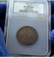 1799 LARGE CENT S-189 NGC / NCS  AG DETAILS