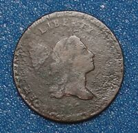 1797 HALF CENT PLAIN EDGE STRUCK OVER TALBOT ALLUM LEE CENT