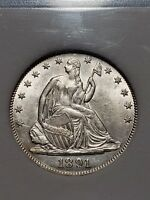 1891 SEATED LIBERTY HALF DOLLAR HIGH GRADE LOW MINTAGE