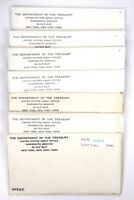 1972 P D UNITED STATES UNCIRCULATED MINT SET LOT OF 7 IN ENV
