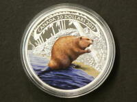 2015 CANADA $20 BEAVER AT WORK SILVER NO TAX 1608