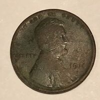 1914 D LINCOLN WHEAT 1 CENT PENNY UNCERTIFIED